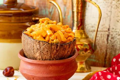 Home made indian macaroni pasta