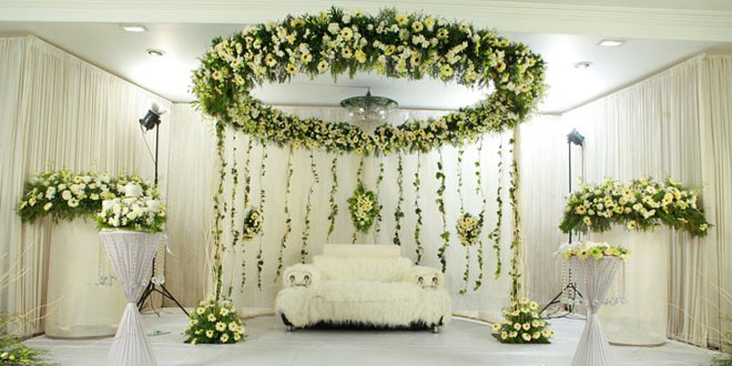 Kerala Wedding Stage Decoration