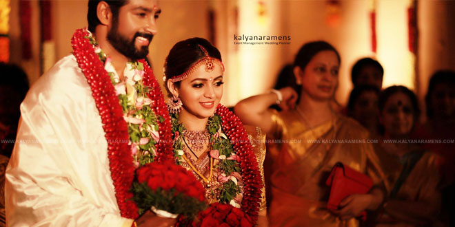 Actress Bhavana & Naveen Marriage Photos