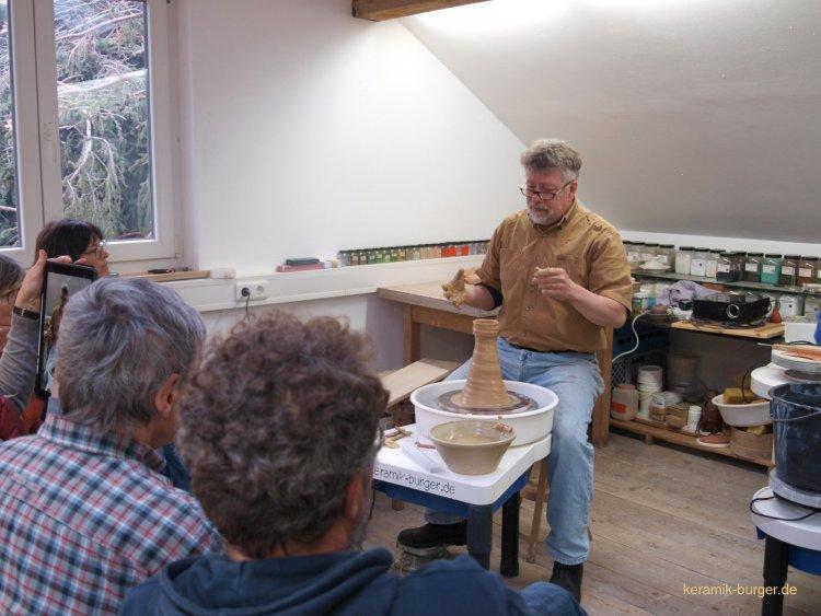 John Dix in meiner Werkstatt