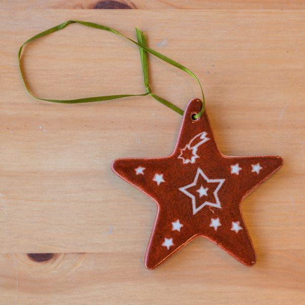 Weihnachtsstern aus der Keramikkiste