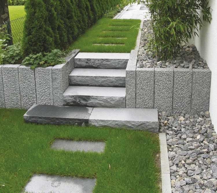 Palisaden Granit Garten Stelen Garten Palisade Stele