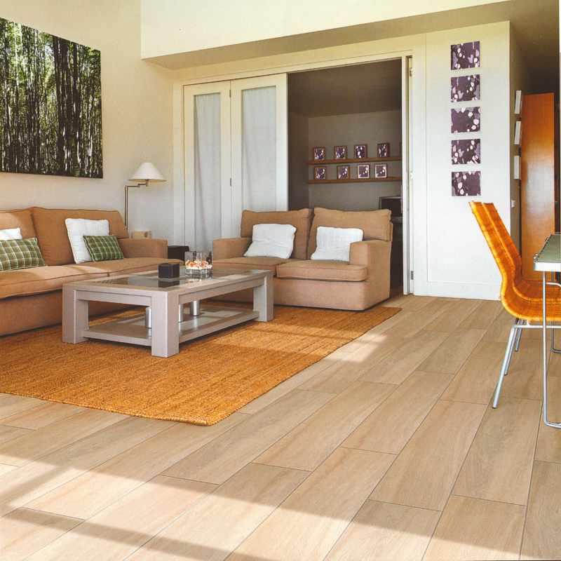 wohnzimmer beispiele in kernbuche - boisholz - Fliesen Holzoptik Wohnzimmer