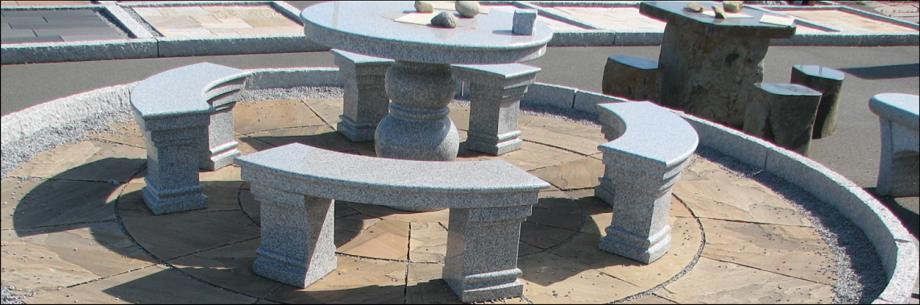 granit set bank » terrassenholz, Garten und Bauten