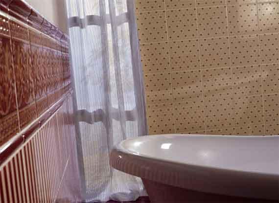 Englische viktorianische historische nostalgische Fliesen Wandfliesen alte Badezimmer Potsdam