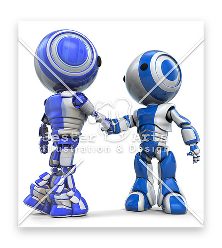 Robot pun sudah pandai bersalam!