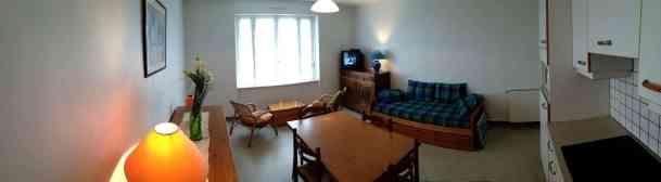 Appartement-3- Vue panoramique du logement - salon et cuisine