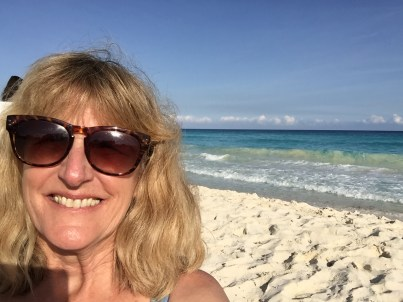 My mothers first selfie on the beach on her birthday.