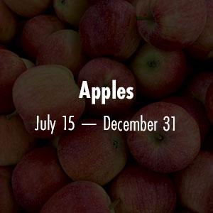 Apples July 15 - Dec 31