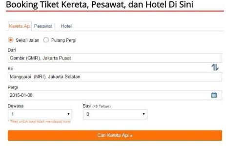 Reservasi booking tiket