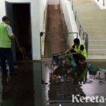 Jakarta Banjir, Underpass Stasiun Manggarai Ikut Tergenang Air
