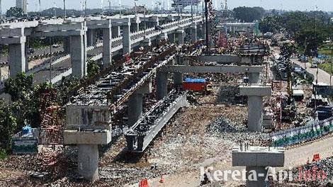 proyek kereta Bandara Internasional Soekarno-Hatta - metro.sindonews.com