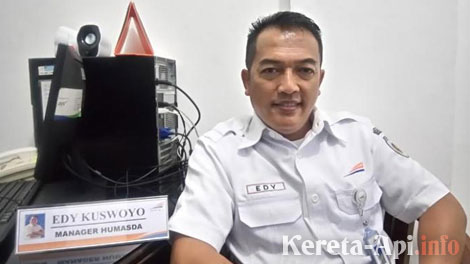 Edy Kuswoyo, Kepala Humas PT KAI Daops IV - jateng.tribunnews.com