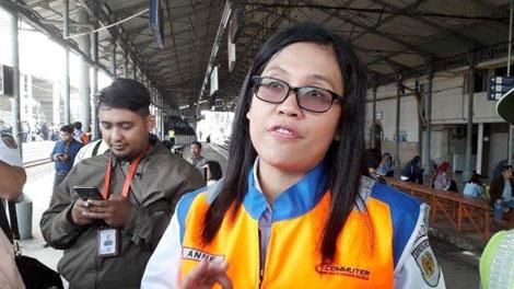 Anne Purba, VP Corporate Communication PT KCI - jakarta.tribunnews.com