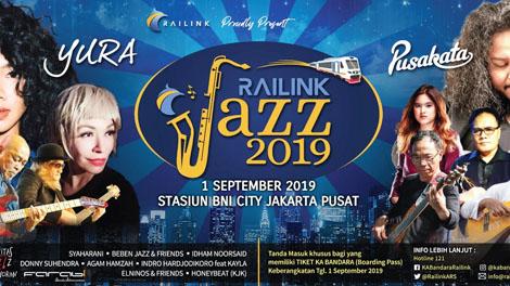 Railink Ajak Penumpang Nikmati Konser Musik Jazz - www.railink.co.id