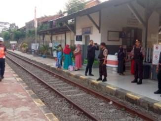 Pengamanan di Stasiun Cikeusal, Kabupaten Serang