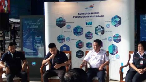 Konferesi Pers peluncuran WI-FI gratis