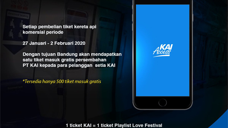 Naik Kereta Api Dapat Tiket Gratis Playlist Love Festival