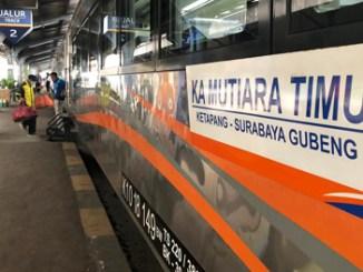 Relasi KA Mutiara Timur Diperpanjang Sampai Yogyakarta
