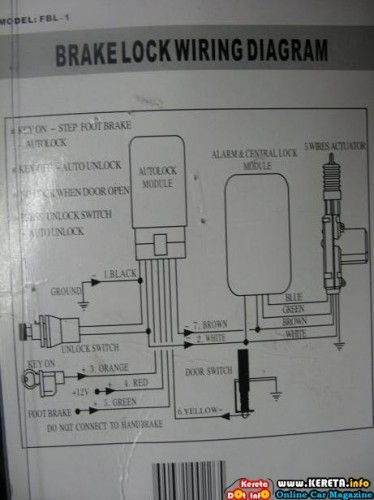 Kancil Central Lock Wiring Diagram