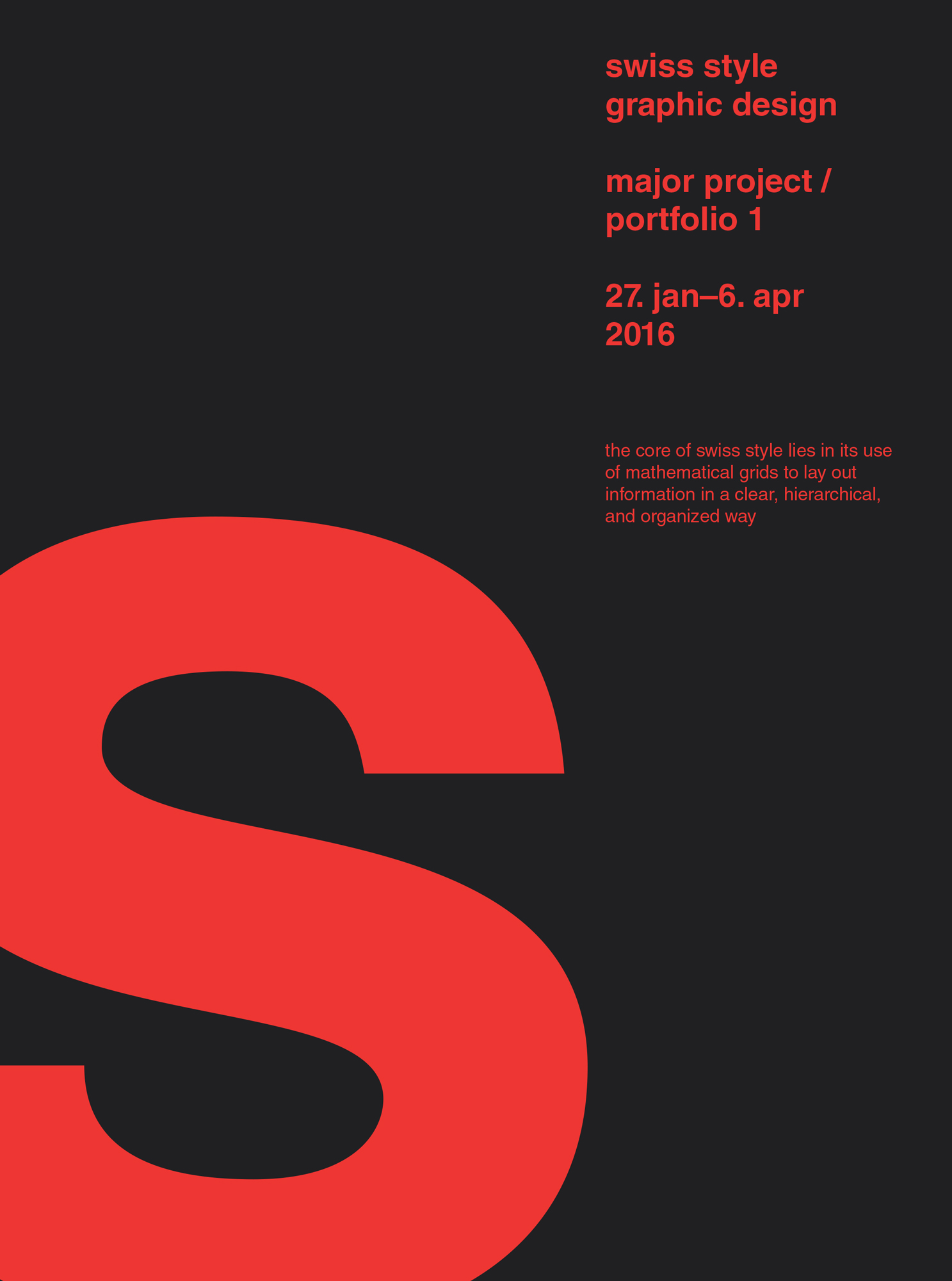 Swiss Style Posters Keri Chau Design