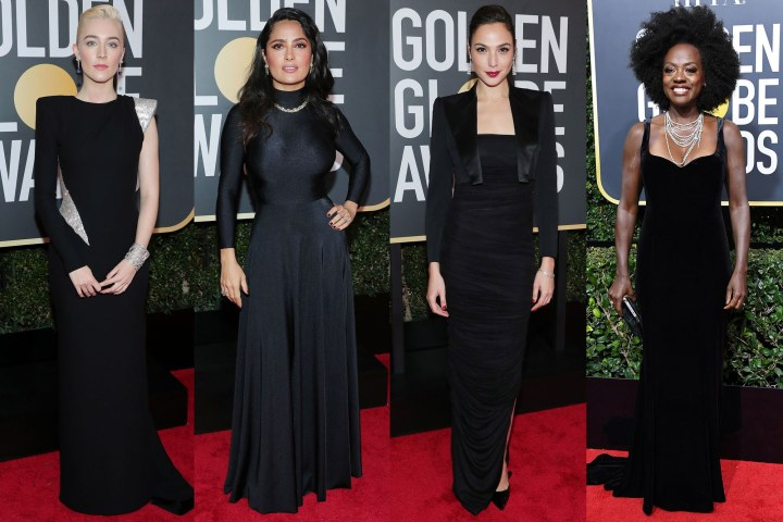 Women in Black for the Time's Up initiative at the Golden Globes Viola Davis Gal