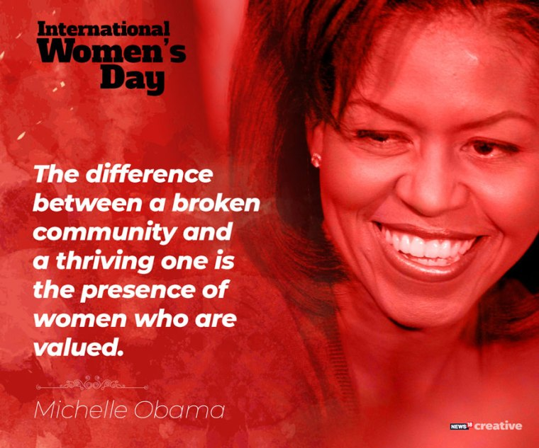 Michelle Obama International Women's Day