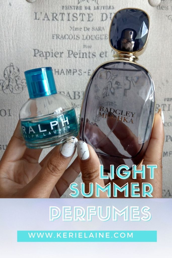 Ralph by Ralph Lauren bottle and Badgley Mischka perfume. Light summer Perfumes