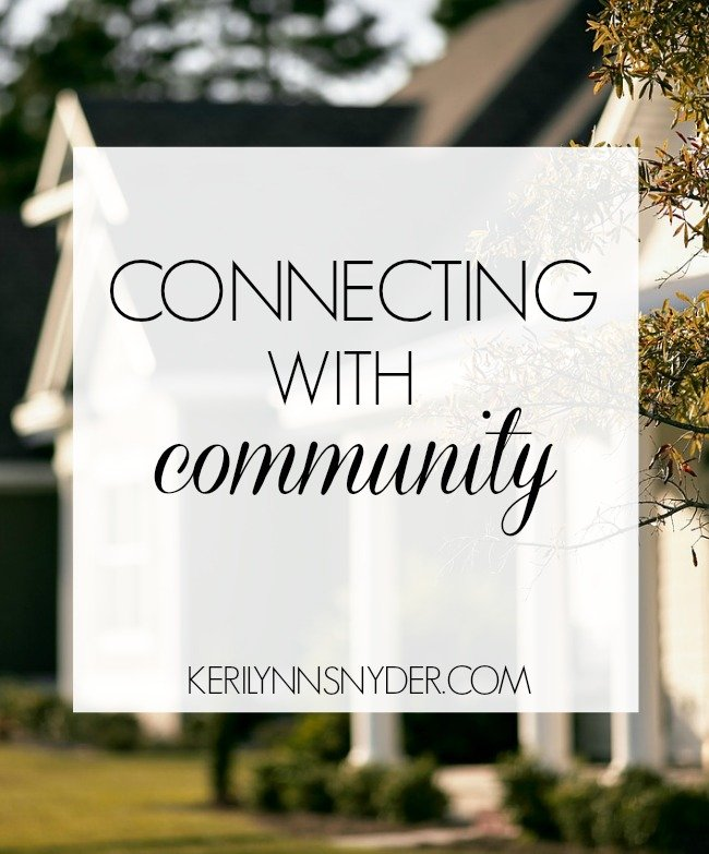 How to find and connect with community