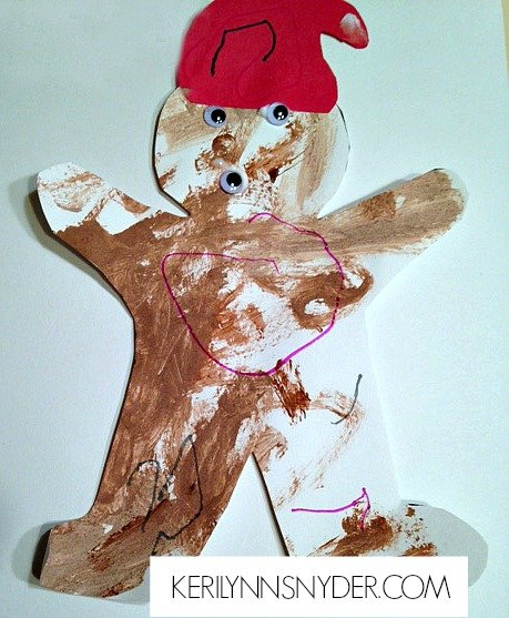 Easy Kids Christmas Crafts- Scented Gingerbread Man