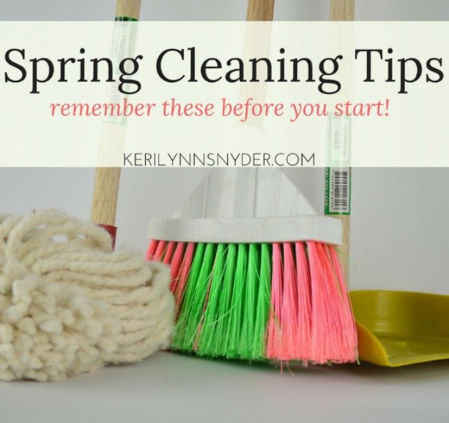Spring Cleaning tips for the busy mom