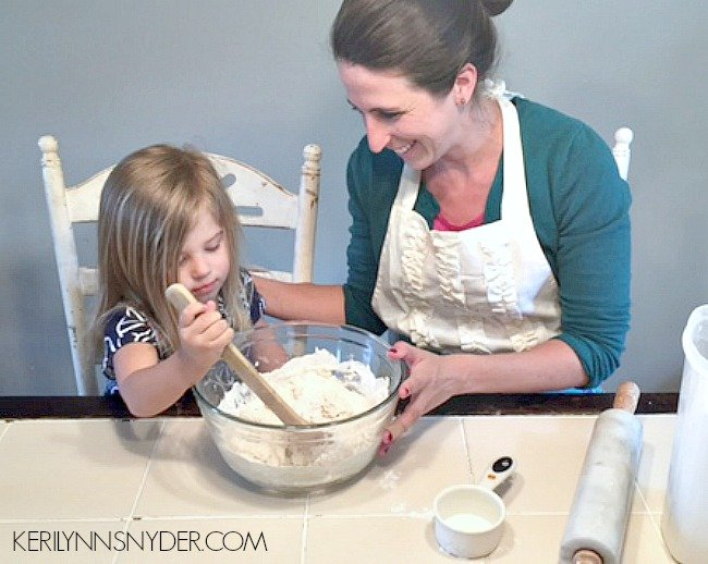 Sharing how cooking with kids can be a memorable moment plus an easy recipe