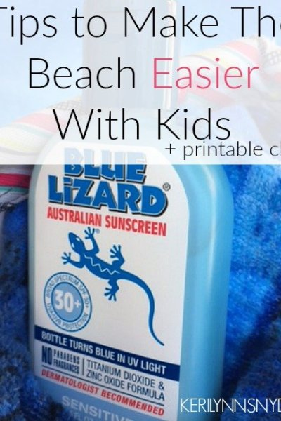 What to Pack for a Beach Trip with Kids + Free Printable