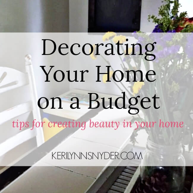 Learn how creating beauty in our homes is not what you would think