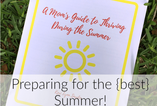 The perfect guide full of printables for moms during the summer!