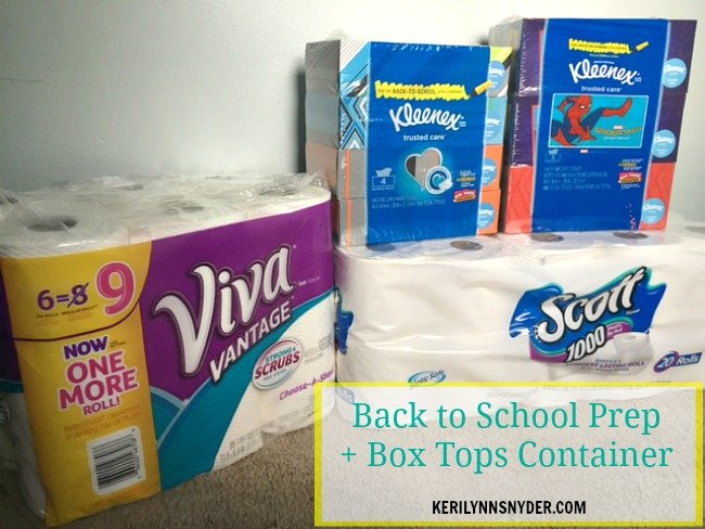 back to school shopping, diy box top container