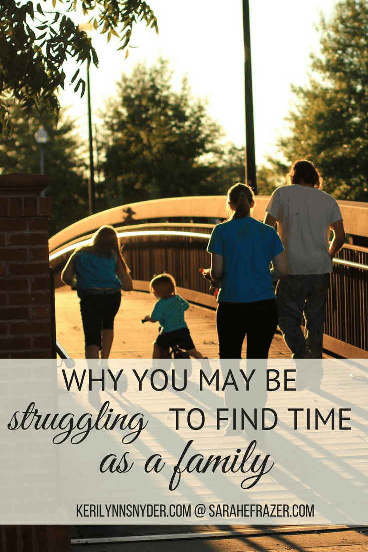 Are you struggling to find time as a family? Here are some reasons why. Learn how to find time as a family.