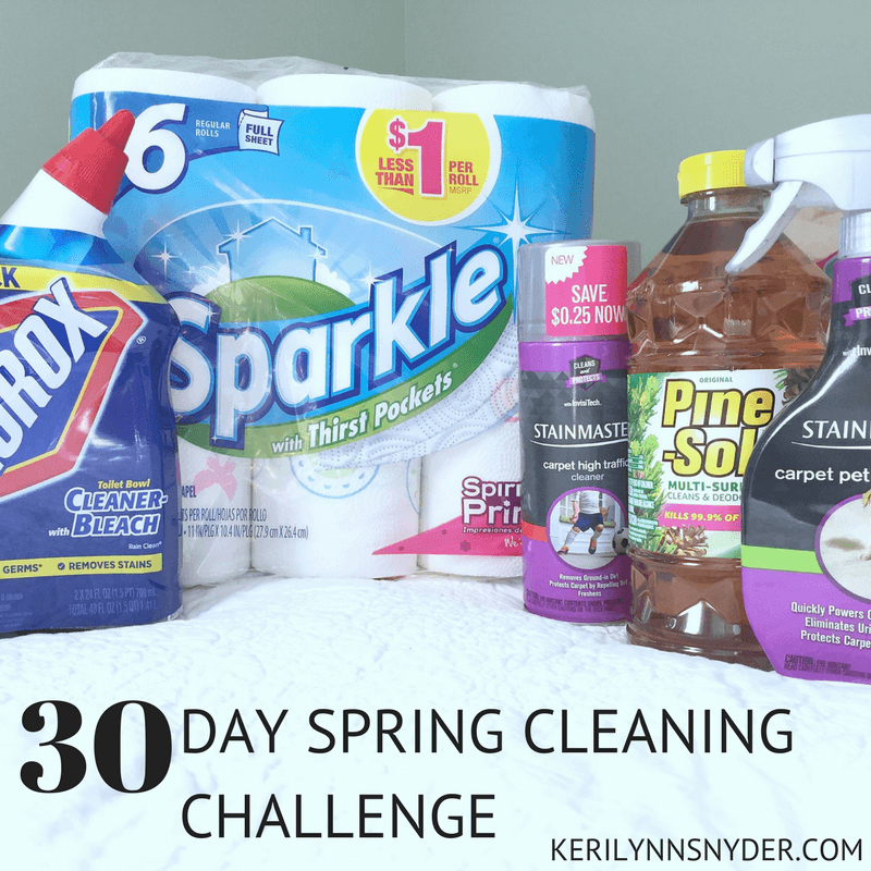 30 day spring cleaning challenge plus free printable