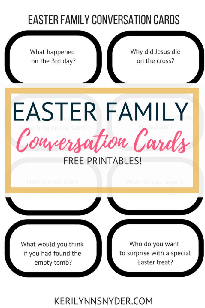Easter Printables- Easter Conversation Cards