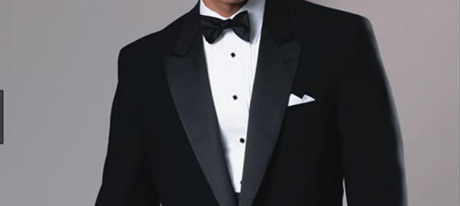 tuxedo and bow tie