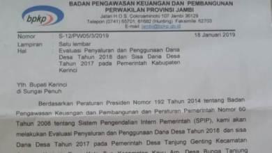 Photo of BPKP Periksa 4 Kepala Desa di Kerinci, Ada apa?