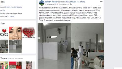 Photo of Viral, Pelayan Buruk RSU Kerinci, Dokter Tidak Masuk, Pasien Mau BAB Harus Cari diluar Kamar