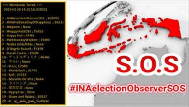 Photo of Gerakan Tagar #INAelectionobserverSOS dan Surat Sang Jenderal Tito Selamatkan Demokrasi