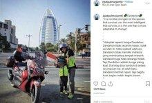 Photo of Kisah Lilik Gunawan Merangin Touring Bareng Anak dari Jambi ke Abu Dhabi