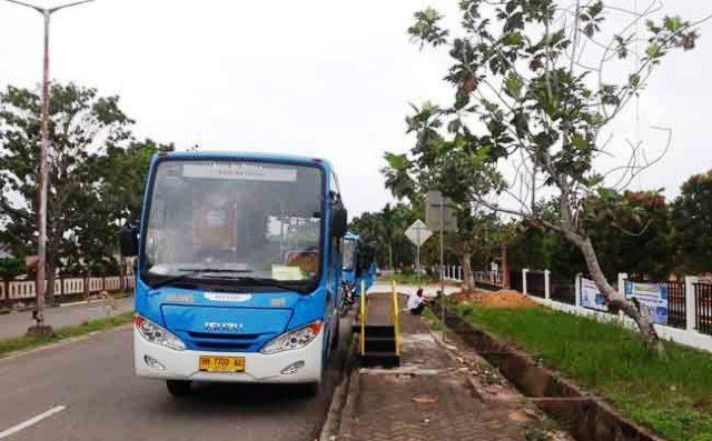 Photo of Bus Trans Siginjai Jajal Kantor Bupati Muaro Jambi