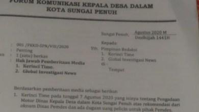 Photo of Dituding Ada Uang Pelicin Pengadaan Motor Dinas Kades di Sungai Penuh, Ini Penjelasan Ketua Forumnya