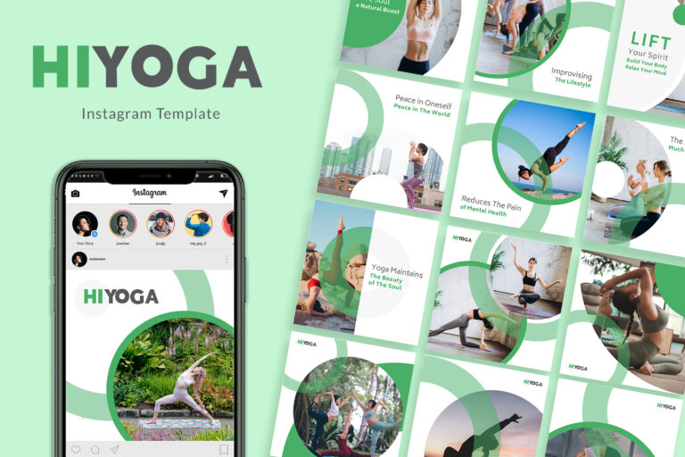 Preview image of Hiyoga Instagram Templates