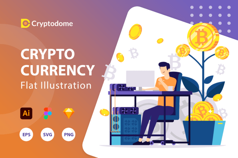 Cryptodome - Cryptocurrency Illustration