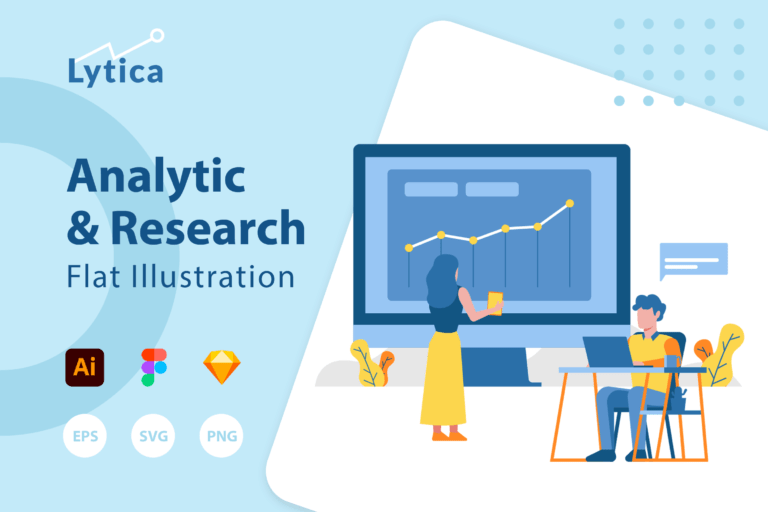 Preview image of Lytica – Analytic & Research Illustration