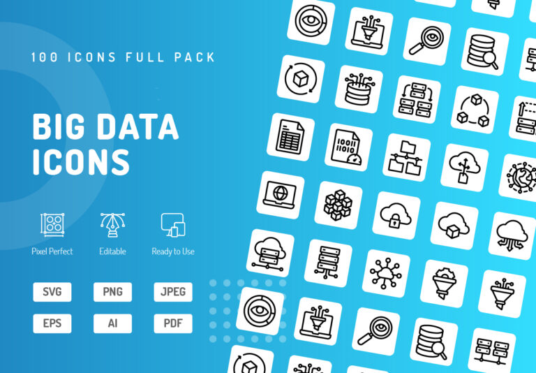 Preview image of Big Data Icons